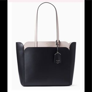Kate Spade Magnolia medium pocket tote black dolce